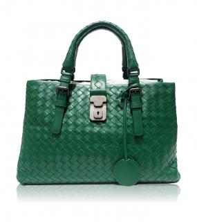Bottega Veneta Small Roma Bag Green
