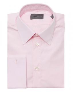 KILGOUR French Cuff Tailored Shirt  - ENGLISH PINK
