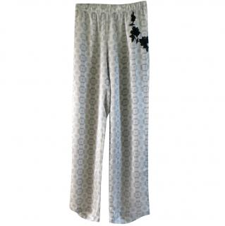 Christian Dior monogram embroidered lace pyjama style trousers