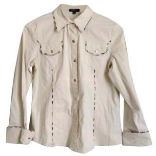 Burberry Beige Cotton Shirt