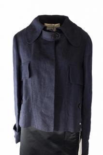 Valentino Blue Linen Jacket UK 10