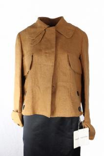 Valentino Brown Linen Jacket UK10
