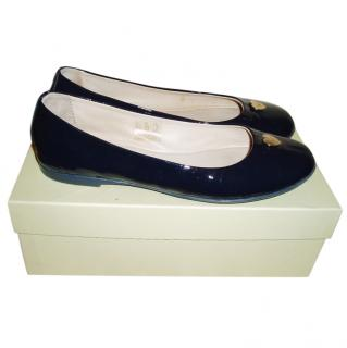 Armani Junior Navy Ballerina