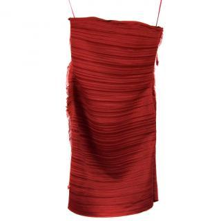 Lanvin Red Strapless Dress