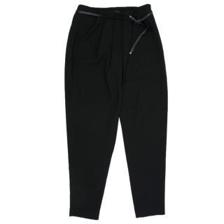 Elie Tahari Black High Waisted Pleated Trousers
