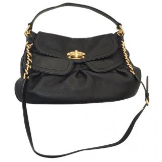 Miu Miu large black leather shoulder & cross body bag