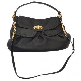 Miu Miu large black leather shoulder & cross body bag