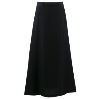 Saint Laurent Black Long Skirt