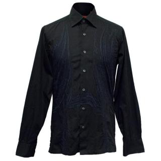 Christian Lacroix Men's Black Pattern Shirt