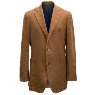 Suitsupply Men's Brown Linen Blazer
