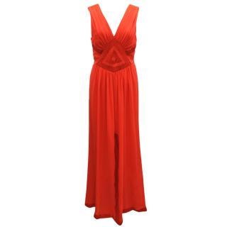 Diane von Furstenberg Red Sleveless Dress