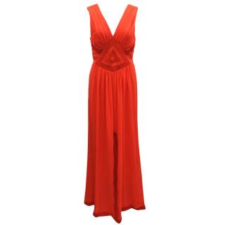 Diane von Furstenberg Red Sleveless Dress