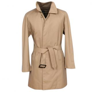 Burberry Single Breasted Short Trench