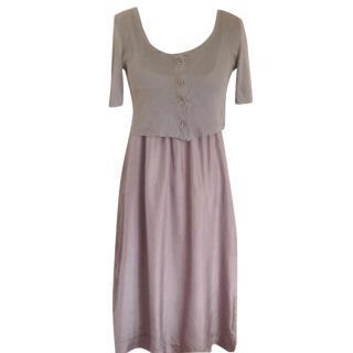 Kristensen Du Nord Silk and Cotton Dress & Cardi