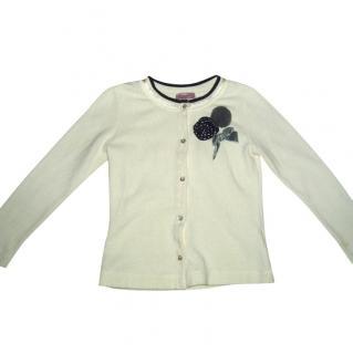 MONNALISA  cardigan with pom pom, size 7 years
