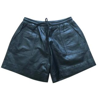 Jonathan Simkhai Leather Shorts