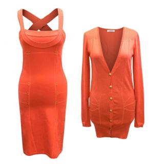 Versace Peach Cardigan and Dress Set
