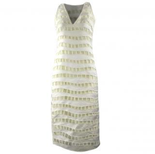 Akris White Cut outs Dress UK 6