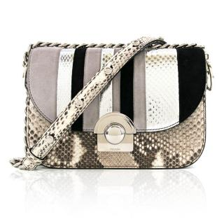 Prada Arcade Python & Leather Flap Bag