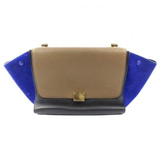 Celine Trapeze 3 toned Leather & Suede Tote