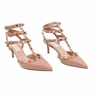 Valentino Multi Colour Ankle Strap Rockstud UK 3