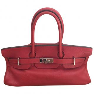 Hermes Red Shoulder Birkin