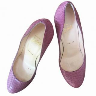 Pink Snakeskin Louboutin Heels