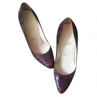 Deep Red Louboutin Heels