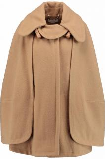 CHLOÉ - Toggle-Fastened Wool-Blend Cape UK 8