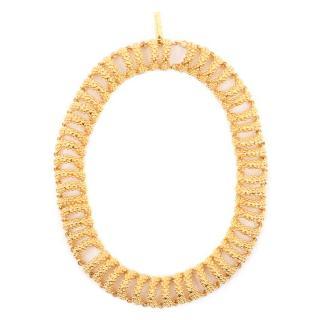 Balenciaga Gold Bubble Chain Choker Necklace