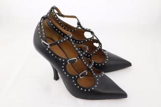 Givenchy Stud Embellished Leather Pumps UK 4