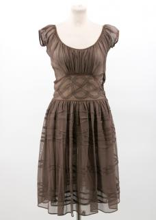Bottega Veneta Brown Sheer Dress
