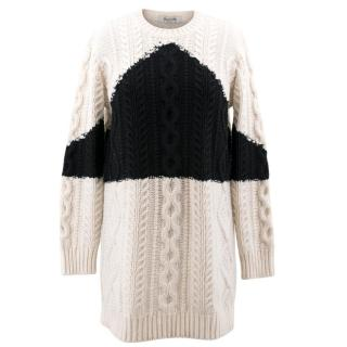 Valentino Black & Cream Knit Sweater