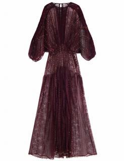 Zimmermann Rhythm Links Gown Merlot