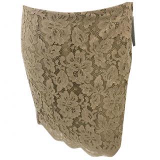 Ralph Lauren Black Label Beige Lace Skirt