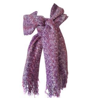 Missoni zig zag fringed scarf