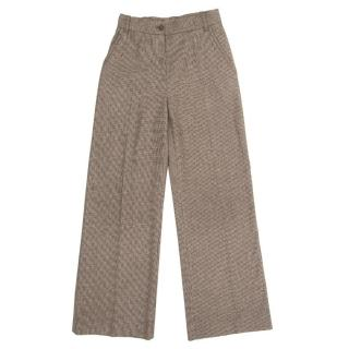 Bottega Veneta Brown Check Trousers