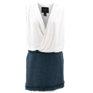 Jay Ahr Blue and White Dress