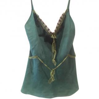 Green Silk Prada Camisole