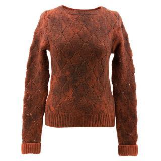 Bottega Veneta Orange Sweater with Charcoal Coating