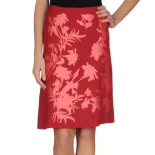 Jonathan Saunders Red Knee Length Skirt