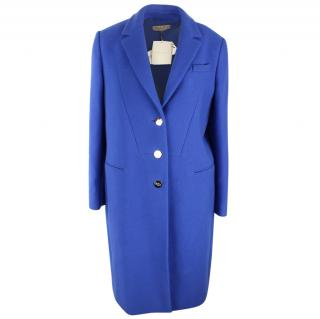 Emilio Pucci Blue Wool Coat with Cashmere