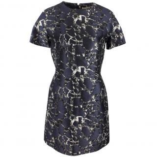 Balenciaga Women's Black Landscape Print Dress UK 10