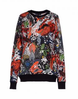 Jonathan Saunders Red Floral Paisley-Print Sweatshirt