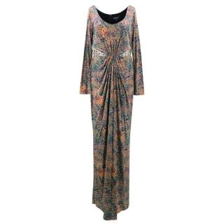 Saloni Lyla Forest Print Long Dress