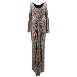 Saloni Lyla Forest Print Long Dress