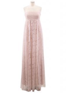 Vera Wang Pink Lace Dress