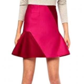 Ostwald Helgason Skirt With Flared Hem In Bonded Silk