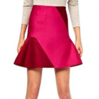 Ostwald Helgason Skirt With Flared Hem In Bonded Silk