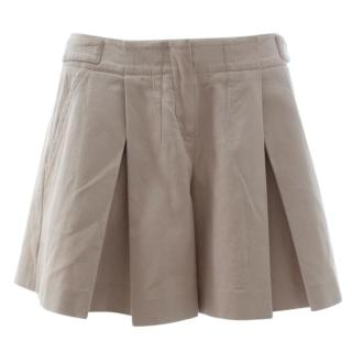 Christian Dior Cotton Pleated Shorts